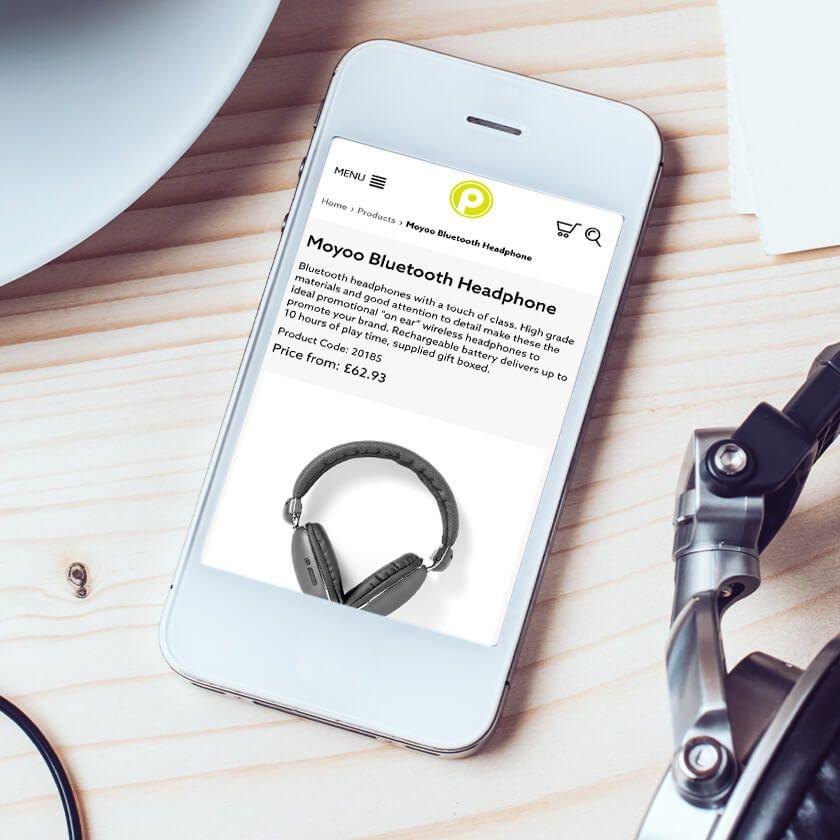 Premier print website on mobile
