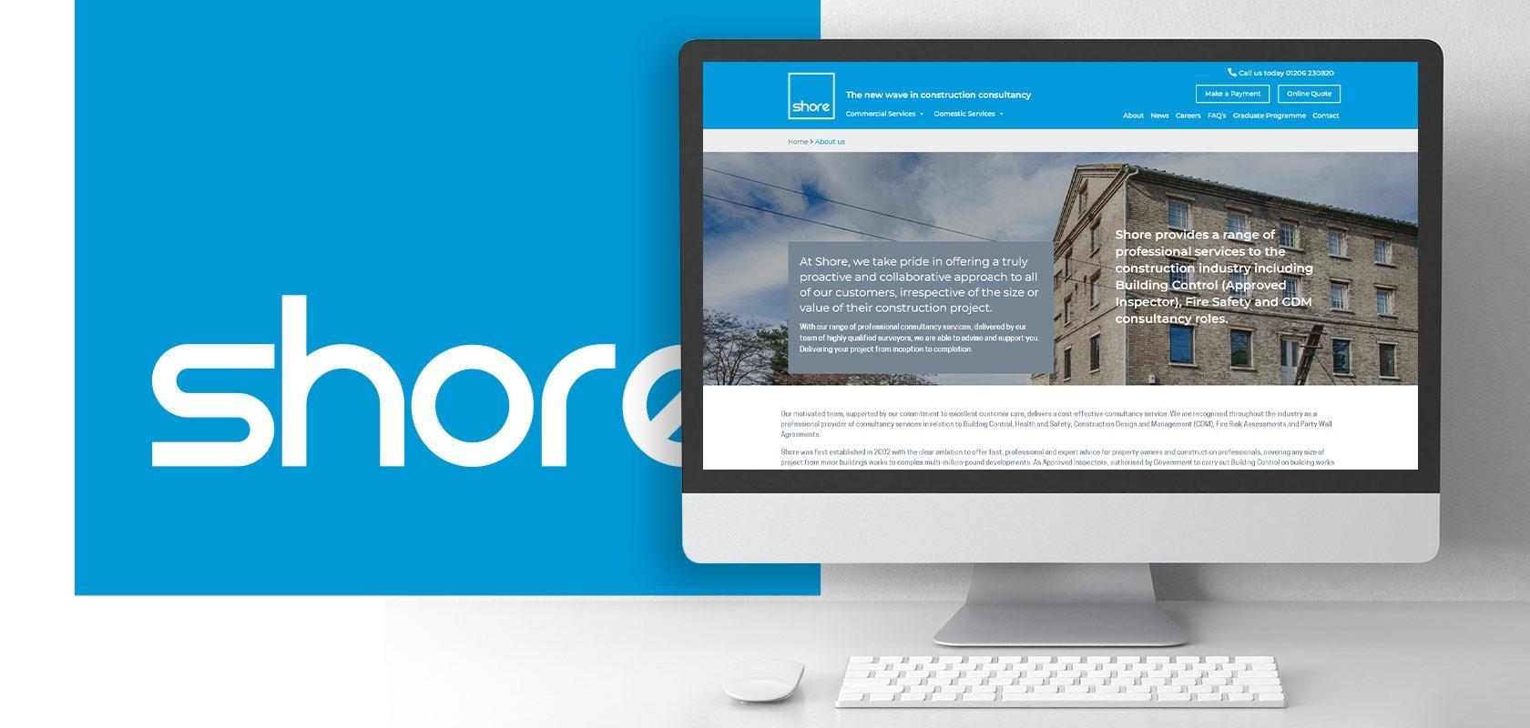 Shore website on iMac