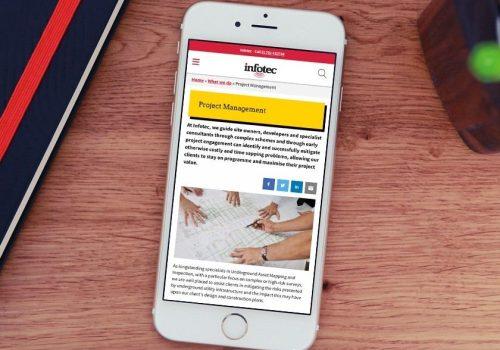 Infotec responsive website
