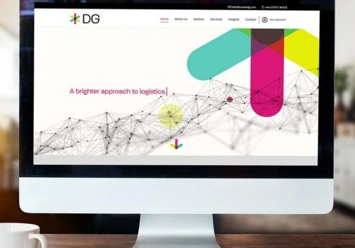 DG International website on iMac