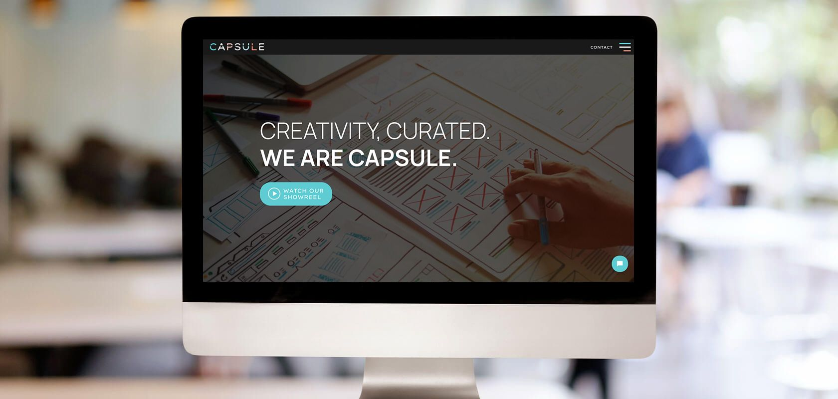 Capsule site on a computer