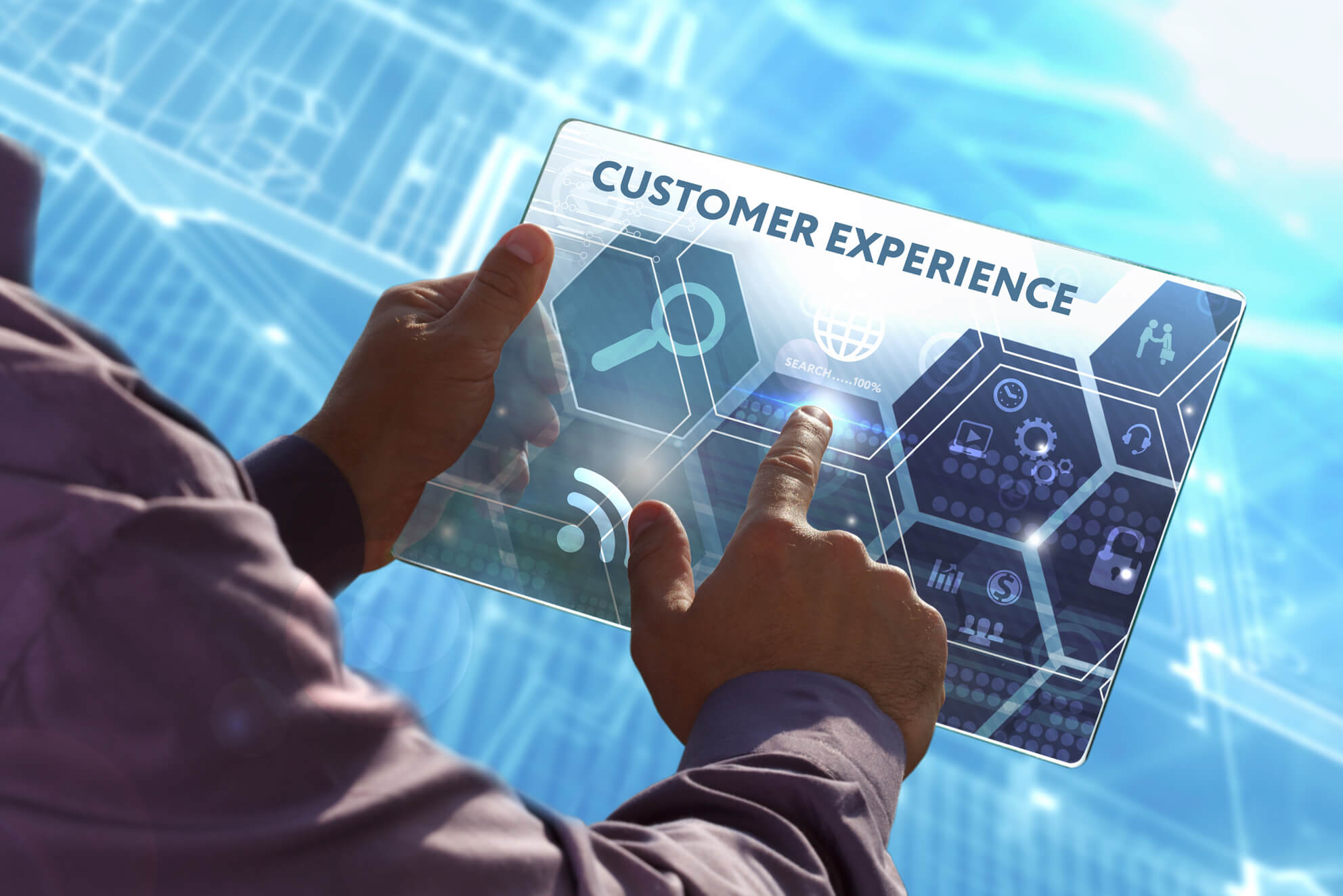 Customer experience on tablet