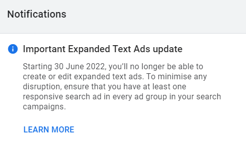 The End of Expanded Text Ads